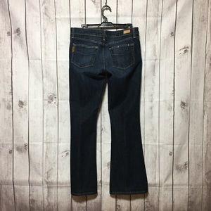 Paige Laurel Canyon Flare Blue Jeans Womens 30 USA